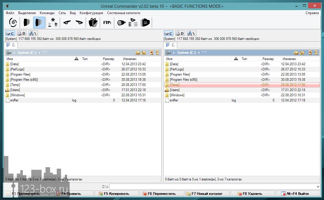Unreal Commander — классический двухпанельный менеджер файлов