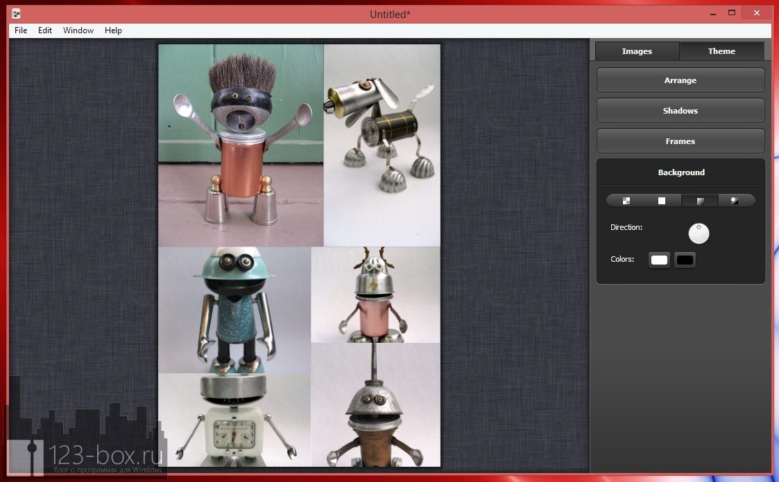 Collagerator — простая программа для создания фото-коллажей