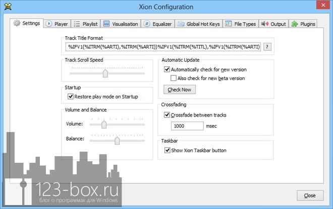 Xion Audio Player — компактный аудио плеер с поддержкой множества форматов