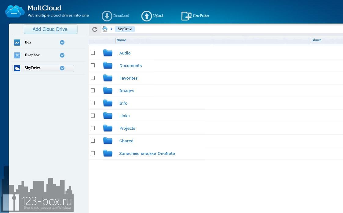 MultCloud — онлайновый сервис для управления облачными хранилищами