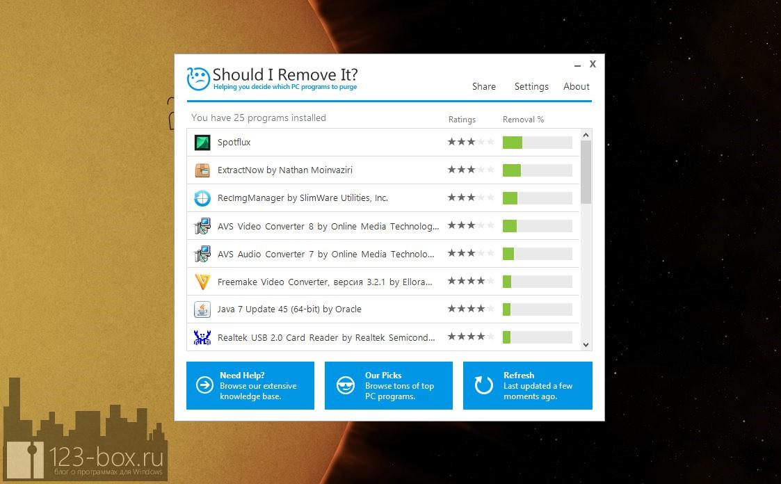 Should I Remove It? — приложение, показывающее, какие программы следует удалить