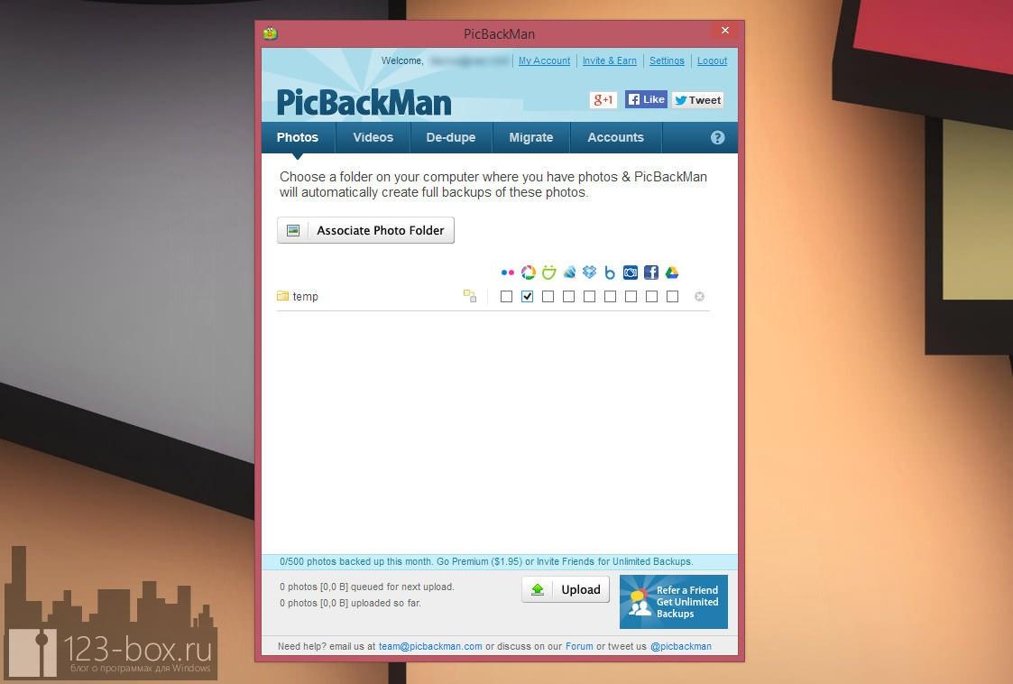 PicBackMan — программа, собирающая фото и видео из ваших аккаунтов в социальных сетях в одном месте