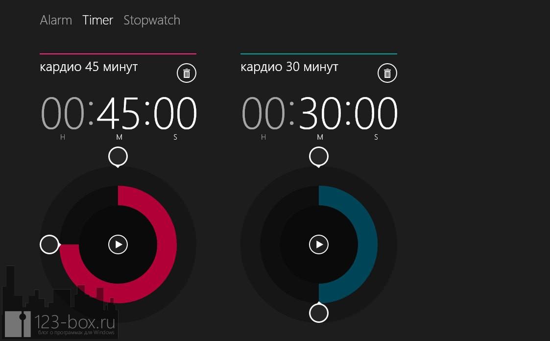 Будильники — удобный будильник и таймер в Windows 8