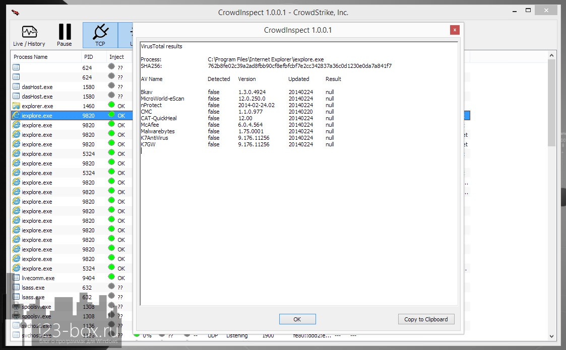 CrowdInspect — инспектор безопасности сетевых и интернет-соединений