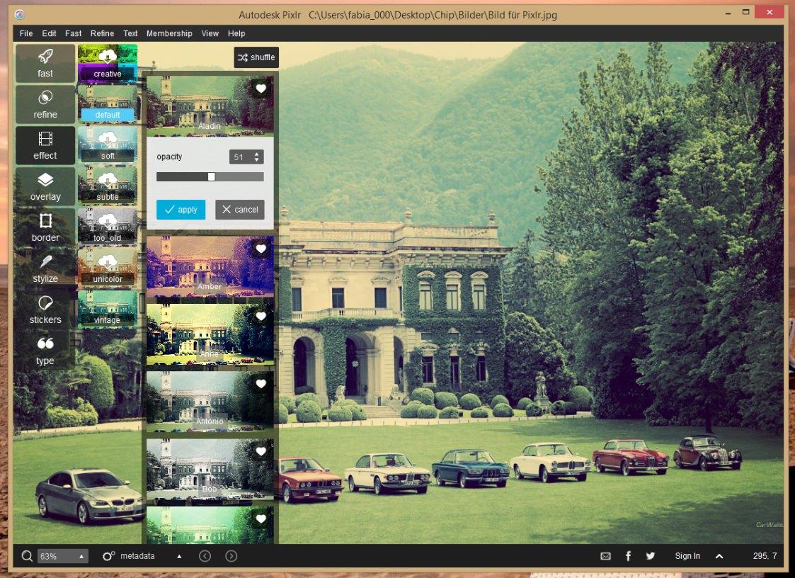 Autodesk Pixlr — простой редактор фотографий