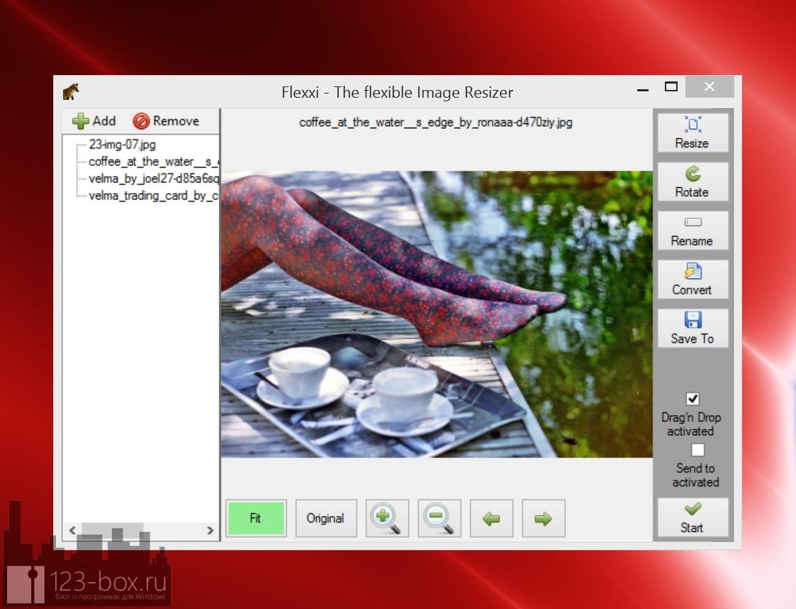 Flexxi — удобная портабельная программа для пакетного преобразования изображений