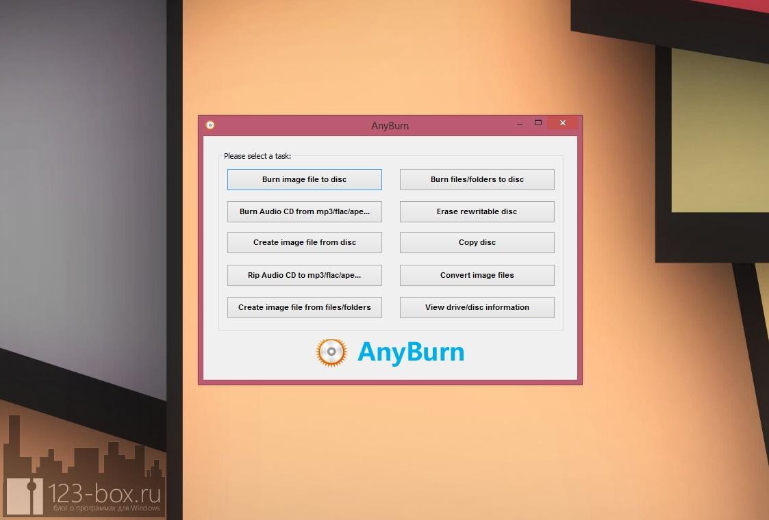 AnyBurn — программа для записи оптических носителей