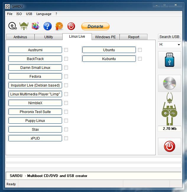SARDU — программа для создания мультизагрузочных дисков и образов