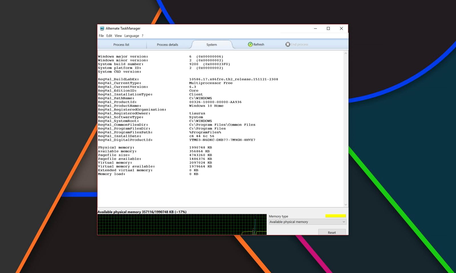 Alternate Task Manager — альтернативный менеджер активных процессов для Windows